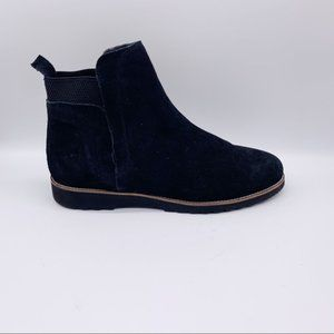 Blondo Perla Ankle Black Suede Leather Boots
